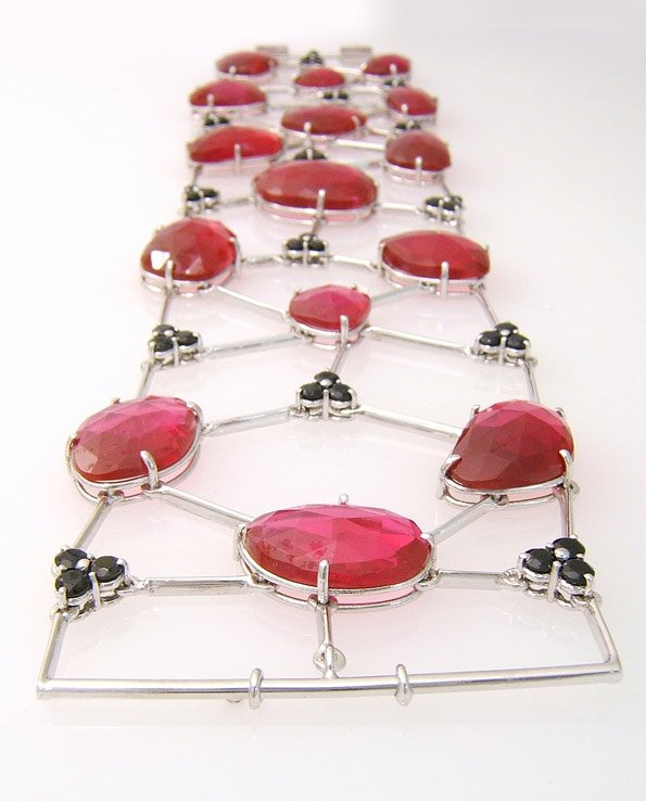 Bracciale rubini snodato